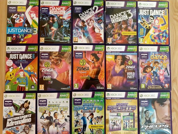 Zumba Just Dance Dance Central Sport gry Xbox 360