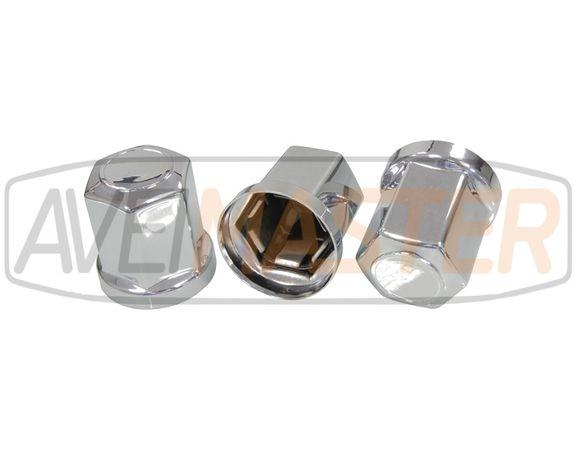 Conjunto 20 Tampas Aco Inox p/Porcas 32-33mm Jante Ferro