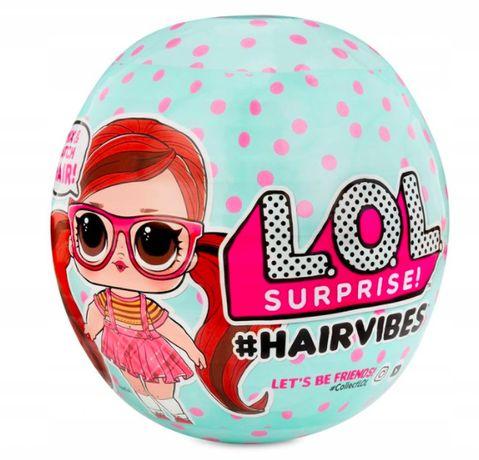 L.O.L Surprise Hairvibes laleczka kolorowe włosy + 15 akcesoriów! NOWA
