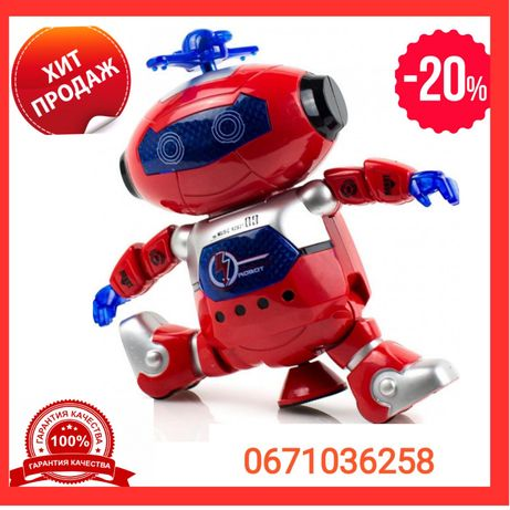 -20%Танцующий светящийся робот Dancing Robot. Опт/Розн. Запорожье!!!