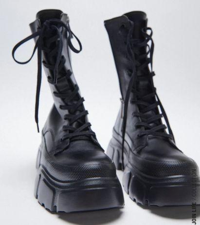 Zara ботинки шкіряні