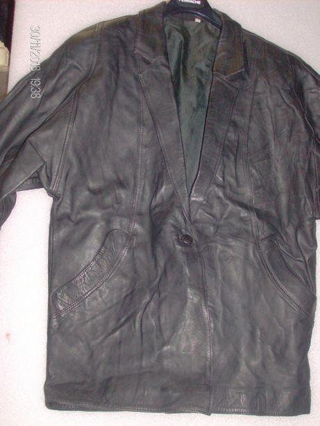 casaco de senhora em pele preto XXL
