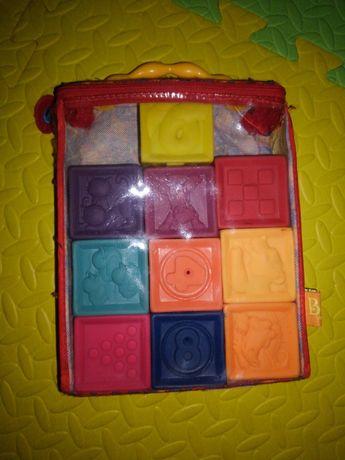 Кубики Battat силиконовые