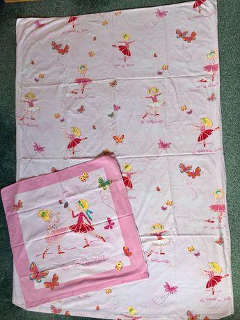Różowa pościel dla dziewczynki w baletnice 135x200
