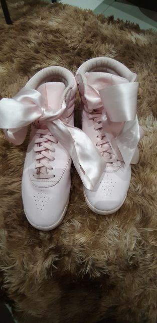 Adidasy buty sportowe wysokie różowe Reebok rozm.40