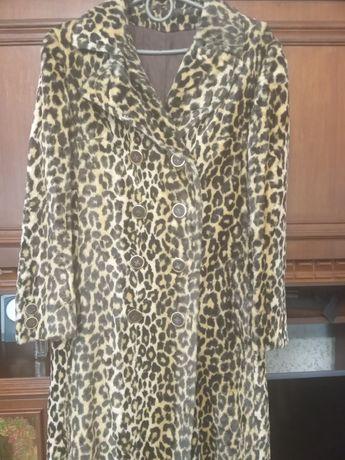 Шикарное леопардовое пальто