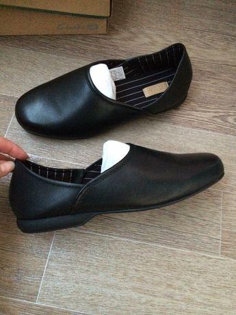 Clarks кожаные туфли балетки кроссовки 39р ст 25.5