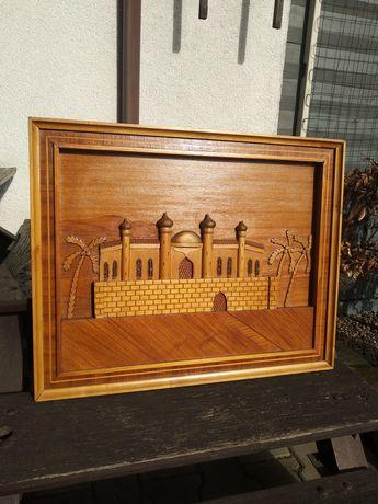 Drewniany  obraz