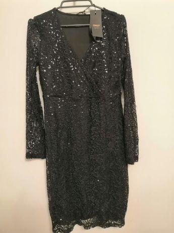 Nowe sukienka, cekiny,36 S, vero moda, only