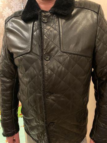 Зимняя кожаная мужская дубленка(куртка)