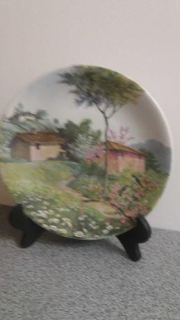 Фарфор Италии Коллекционная тарелка