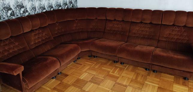 Narożnik brązowy, fotel, sofa, kanapa