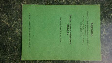 Brona talerzowa BDT-2,5A instrukcja obsługi