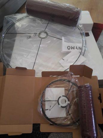 Conjunto Abajur Vermelho Escuro Ikea 59 cm e 24 cm