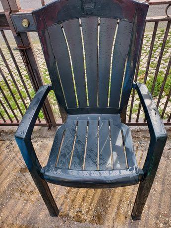 10 cadeiras de jardim verdes plástico c/novas