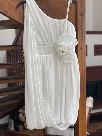 Sukienka biała ślub poprawiny wesele komunia r. XS