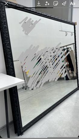 Lustro w drewnianej ramie XXL/ loft/ dekoracja/ glamour