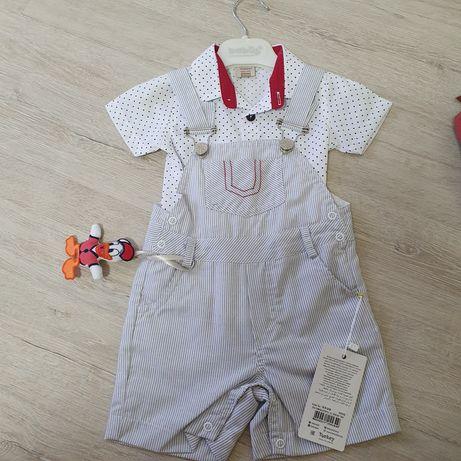 Летний костюм на мальчика, малыша, шорты, рубашка 9 мес