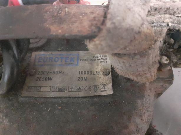 Pompa do wody szamba 10000 L /1 H 2850 W 20 M