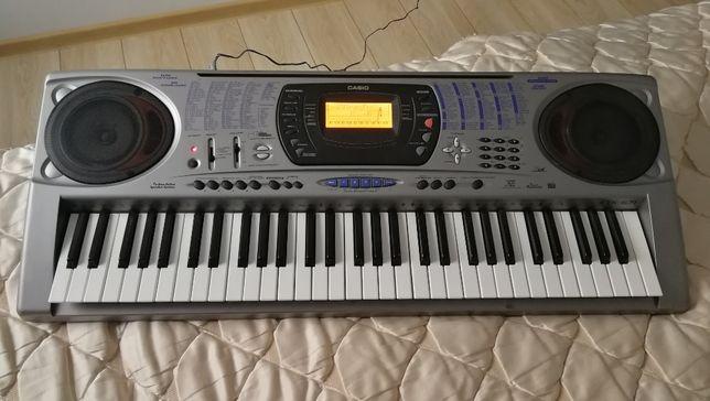 Piekny Keyboard Casio CTK-671 z nowym zasilaczem i stojakiem na nuty