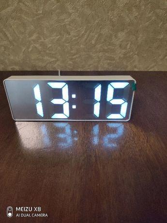 LED Часы электронные календарь термометр будильник Большие цифры