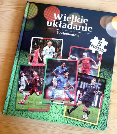 Wielkie układanie książeczka z piłkarzami
