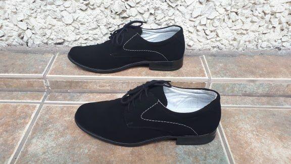Czarne chłopięce buty, rozm. 35