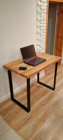 Biurko styl loft dębowy blat (kwietnik,stolik, regał,stojak,konsola)