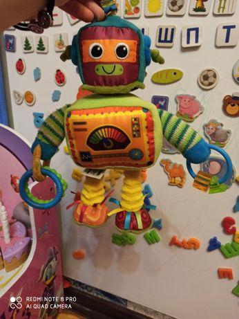 Фирменная игрушка подвеска на коляску погремушка робот