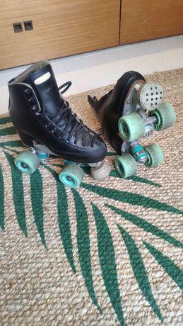 Patins patinagem artística italianos em bom estado