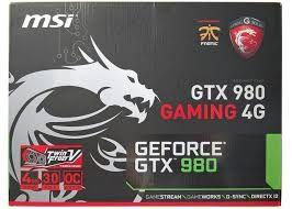 Placa gráfica Gtx 980 Msi