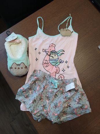 Komplet piżama + kapcie Pusheen