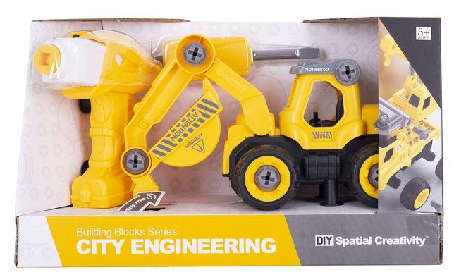 Экскаватор Diy Spatial Creativity LM8011-DZ-1 Разноцветный