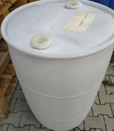 beczka 220 litrów plastikowa biała zdwoma korkami