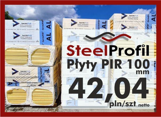 Płyta PIR poliuretan termPIR AL 100mm izolacja Płyty Izoproof XPS EPS