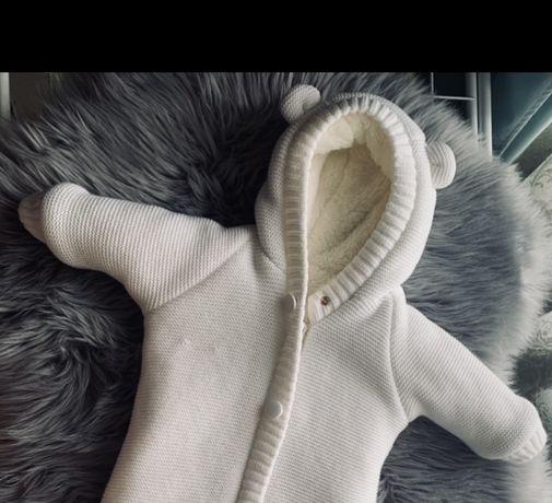 Теплий комбінезон на новонародженого хлопчика або дівчинку Мішутка