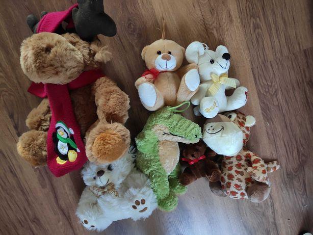 Przytulanki misie pluszaki zabawki 9 sztuk zestaw komplet
