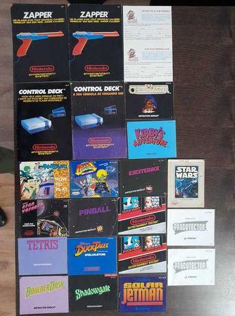 Manuais Instruções Nintendo NES Originais