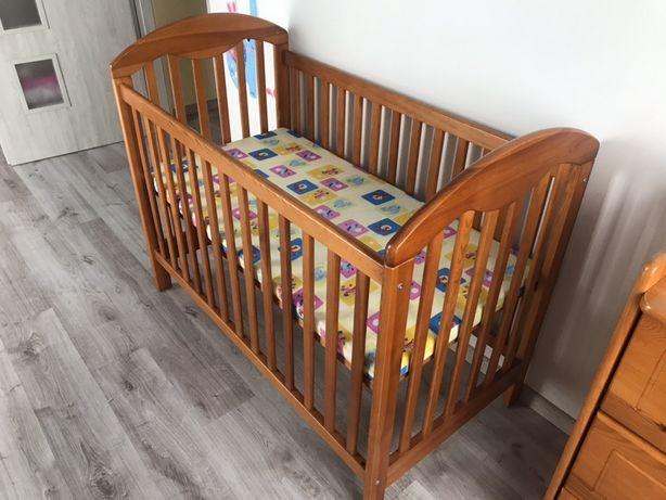 Łóżeczko dziecięce GLUCK drewniane olcha