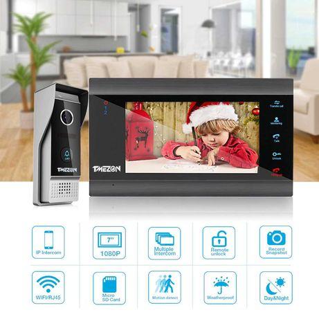 Campaínha videoporteiro Tmezon 1080p Smart Wi-Fi Tuya