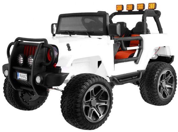 Auto na akumulator Monster Jeep 4x4  regulacja siedziska Plecak Gratis