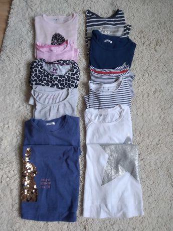 10 bluzeczek z długim rękawem różnych firm