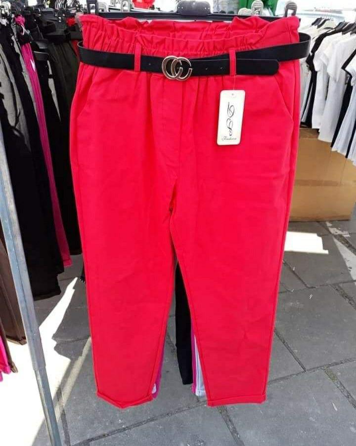 Spodnie materiałowe rozmiar xl czerwone i khaki
