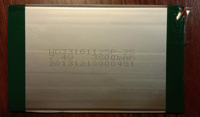 Li-ion аккумулятор cube u30gt 4,2V 3600 mAh