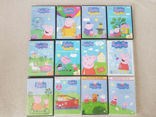 Świnka Peppa płyty DVD . Komplet 12 płyt . Peppa Pig .