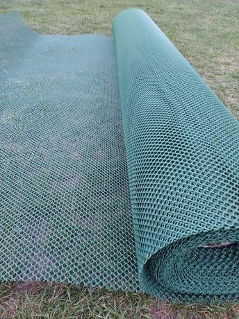 Siatka ogrodzeniowa plastikowa PVC na klatki woliery rabatkowa
