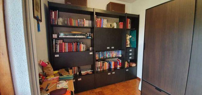 Conjunto móveis sala de estar/ biblioteca