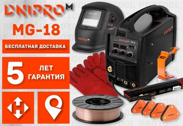 Сварочный полуавтомат инвертор MIG/MMA Dnipro-M MG-18 (Сварка SAB-310)