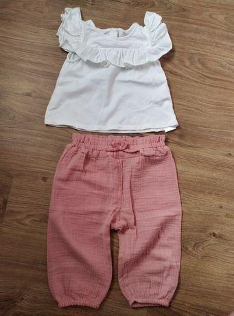 Komplet 92 spodnie bluzka dla dziewczynki Cool club