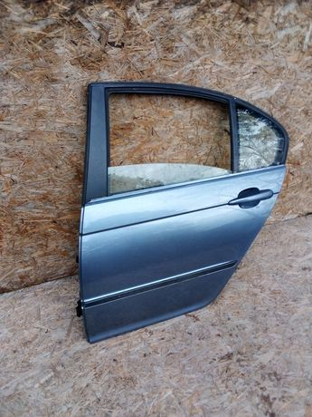 Drzwi bmw e 46 sedan lewe tylne lewy tył StahlBlau